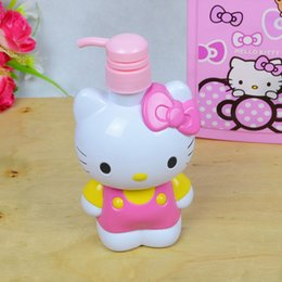 Wholesale Hand Sanitizer Bottles Wholesale - Wholesale- Hello Kitty Small Plastic Containers KT Storage Container Empty Cosmetic Bath Lotion Bottle Hand Sanitizer Bottle