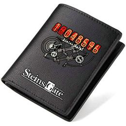 Wholesale National Money - Steins Gate wallet El Psy Congroo purse Game short long cash note case Money notecase Leather burse bag Card holders