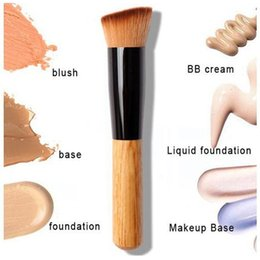 Wholesale Willow Wood - Oblique head blush foundation multi function brush single head willow makeup brush beauty makeup tool fashion new bea209 dhl