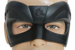 Wholesale Robin Costume Adult - Robin Mask Superhero Black Resin Eye Mask With Adjustable Buckle Adult Scary Scarecrow Cosplay Costume Accessory Xcoser
