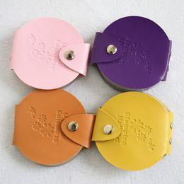 Wholesale Bag For Nail Polish - Wholesale- 1 x Nail Art Stamping Plate Leather Case Bag Folder Stencil Polish Nail Stamp Template Holder Storage for 5.5 cm Plates NC127
