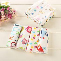 Wholesale Gauze Swimwear - Wholesale- 6 pieces set bib kids children towels baby muslin squares cotton gauze bathroom bibs hand face bath Children's swimwear TMJ25