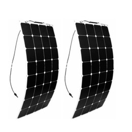 Wholesale factory cars - olarparts 2PCS* 100W flexible solar panel solar cell boat RV solar module for car RV boat 12v battery charger