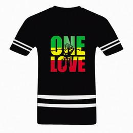 Wholesale Bob Animals - Wholesale- Bob Marley One Love Jamaica Reggae Hip Hop Rap Music Cool Mens T Shirt Plus Size Euro tshirt Custom Personalized Tee Shirts