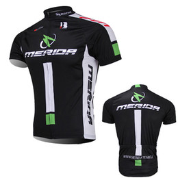 Wholesale Merida Green Cycling Jersey - Free Shipping 4 colors team merida bike jersey mens summer quick dry cycling top 100% polyester Ropa Ciclismo short sleeve MTB bicycle wear