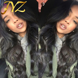 Wholesale Hand Tied Virgin Hair - 100% Hand Tied Body Wave Full Lace Wigs Free Part Natural Hairline Human Hair Wig Bleached Knots Body Wave Full Lace Wigs
