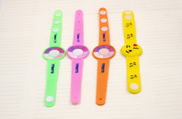 Wholesale Pvc Wrist Bands - A lot of summer must-have cartoon PVC soft plastic uv photosensitive discoloration preventing waste their bracelet wrist band