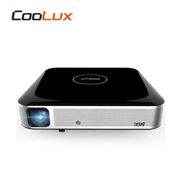 Wholesale S3 Mini 3d - Wholesale- coolux S3 Android4.4 WIFI Airplay Miracast Brightest 3D LED mini 4K Cinema Smart projector Beamer with 2HDMI, 2USB mini AV,RJ45