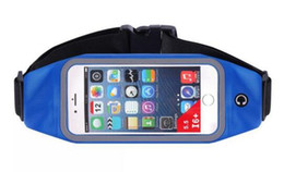 Wholesale Music Bowl - Sport running Hiking waist bags available with ear plugs music waist pockets unisex bicycle touch screen cell phone bag iPhone6 iPhone6splus
