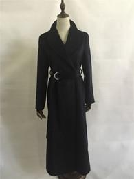 Wholesale Women S Wool Maxi Coat - Manteau femme 2017 Fall Winter Women Oversized Wool Simple Long Coat Brief Maxi Belted Overcoat manteau casaco feminino