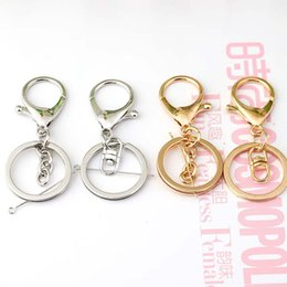 Wholesale Lobster Clasp Key Chain - Gold Color Lobster Clasp Key Rings 33mm Silver Key Chains For DIY Necklacebracelet Jewelry Making Accessories
