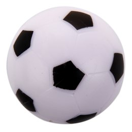 Wholesale foosball tables - Wholesale- Small Soccer Foosball Table Ball Plastic Hard Homo logue Children Game Toy Black White