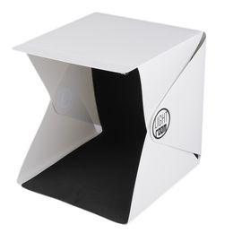 Wholesale portable back - Portable Mini Folding Studio Portable Photography Mini Studio Foldable Softbox with Black white Back LED gound Soft Light box