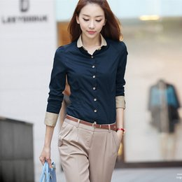 Wholesale Office Wear Tops Blouses - Casual Blouse Shirt Long Sleeve White Blusas Femininas Roupas Woman Clothes Body Ladies Work Wear Female Office Shirt Women Tops
