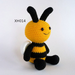 Insetos, pelúcia, animais on-line-Amigurumi Crochet Toy Abelha, Plush Bee, Bumble Crochet Insect Toy Soft Toy Stuffed Softie Crochet animal