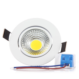 Wholesale 1w Led Spot Lights - Wholesale- 1pcs Led Ceiling Down Light 3W 6W Dimmable Non-dimmable COB Spot Lamp Downlights Warm Cold White AC220V