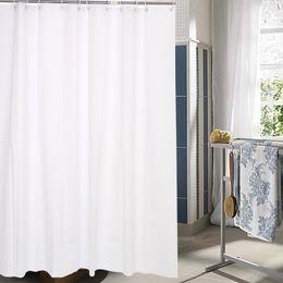 Wholesale Peva Curtain - Wholesale- PEVA Shower Curtains White opaque flower printed Bath curtain Waterproof mould proof Bathroom Curtain Cortina De Bano