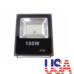 Wholesale Wholesale Flood Light - 100w led floodlights high bright smd 5730 led flood lights waterproof outdoor led wall pack lamps ac 110-240v + stock in US