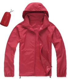 Wholesale Ivory Faces - Summer New Brand Women's Men's Fast drying Outdoor Casual Sports Waterproof UV Jackets Coats Face Windbreaker