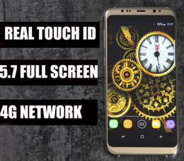 Wholesale Mp3 Player 16gb Memory - Top Version Real Fingerprint Goophone S8 Plus 4g Lte Octa Core 5.7 Inch 1920x1080 Screen 1GB RAM 16GB ROM Add 64G Memory Card Show 4+64GB