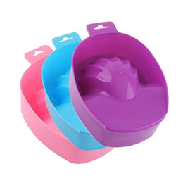 Wholesale Hand Soaks Manicures - Wholesale- 1pcs Nail Art Hand Wash Remover Soak Bowl DIY Salon Nail Spa Bath Treatment Manicure Tools