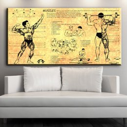 Wholesale Pictures Human Body - ZZ1601 modern canvas art human body structure canvas pictures oil art painting for livingroom bedroom decoration unframed prints