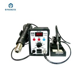 Wholesale Smd Hot Soldering Iron - FIXPHPONE ATTEN AT8586 2 in 1 Hot Air SMD Rework Soldering Station And Professional soldering iron for mobile phone repairing