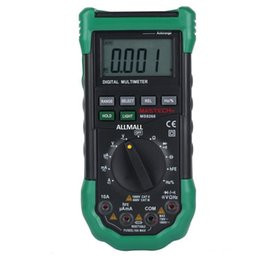 Wholesale Freeshipping Digital Multimeter Auto Range protection ac dc ammeter voltmeter ohm Frequency electrical tester diode detector