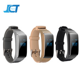 Wholesale Sounding Female - DF22 Business and Sports Smart Bracelet Bluetooth wirstband HiFi Sound Headset Digital Pedometer 3 Colors For IOS Android Phone