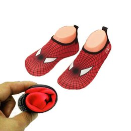 Wholesale Quick Drying Shoes Men - 2017 Quick Dry Man Shoes Spider-Man Pattern Sport Running Anti-slip Swimming Pool Beach Women Sandy beach Couples Shoe Sneakers
