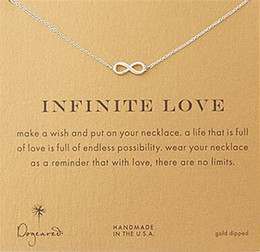 Wholesale Infinite Gifts - Gold Silver Infinite love Dogeared Infinity Necklace Party Gift For Women Girls