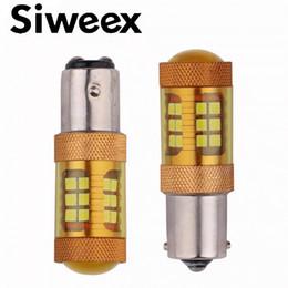 1156 светодиодный индикатор высокой мощности Скидка Высокая мощность LED S25 1156 1157 ba15s ba15d 28SMD Samsung 3030 28 Вт золотой цвет дневного света стоп резервного копирования огни 12 В