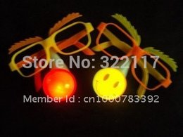 Wholesale Wacky Halloween - Wholesale- wholesale Hot sale party props,flash light clown nose glasses Wacky funny glasses wholesale.10pcs lot