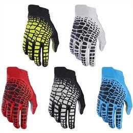 Wholesale Finger Bmx - 2017 New 360 Alpine Motocross Gloves Mountain Bike Cycling Downhill DH ATV BMX Gloves Men profession Motocross full finger glove
