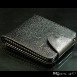 Wholesale Genuine Leather Wallet Money - Fashion Mens' Wallets Genuine Leather Short Design Hasp Men's Wallet Brand Brief Elegant Portable Money Purses Cases Card Holder