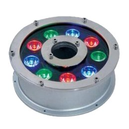 Wholesale- Round 9W High Power LED Underwater Light IP68 Waterproof DC12/24V Input RGB/White Color for Swimming Pool/Fountain/rium Use cheap wholesale led lights for aquariums от Поставщики оптовые светодиодные светильники для аквариумов