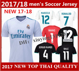 Wholesale Lucas Red - Top quality 2017-18 Real Madrid away Soccer jersey goalkeeper 2018 MODRIC LUCAS V MORATA BALE KROOS ISCO BENZEMA Ronaldo Home football shirt