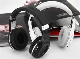 2019 auriculares de turbinas Bluedio H + (Turbine) Bluetooth Estéreo Auriculares inalámbricos Micrófono incorporado Radio micro-SD / FM BT4.1 Auriculares para colocar sobre la oreja rebajas auriculares de turbinas
