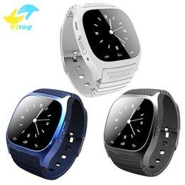 Synchronisierung sehen iphone online-Bluetooth Smart Watch Sport M26 Smartwatch Sync Anrufe Anti-verloren für iPhone und Android Phone Smartphones intelligente Elektronik