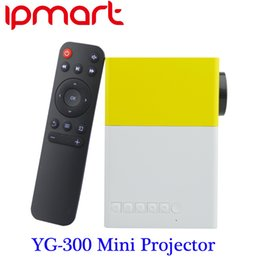 Wholesale Input Video Pc - Newest 2016 YG300 Portable LED Projector Cinema Theater PC&Laptop USB SD AV HDMI Input Mini Pocket Projector