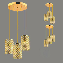 Wholesale Gold Crystal Pendant Ceiling Light - New Brand Crystal Restaurant Ceiling Pendant Lamp Modern Dining Room Uniqlo Lamp Corrider Hallway Pendant Lighting Fixtures