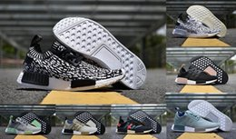 Wholesale Olive Socks - NMD Runner R1 Mesh Salmon Talc Cream Olive Triple Black Men Women Running Shoes Sneakers Originals Fashion NMD Runner Primeknit Socks Shoes