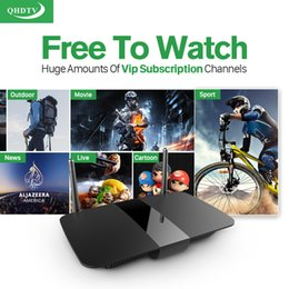 Wholesale Google Android Tv Top Box - 1 Year Free IPTV Box Arabic Europe French Italy UK Smart Android TV Box Quad Core Wifi HDMI Free IPTV Subscription Set Top Box Media Player