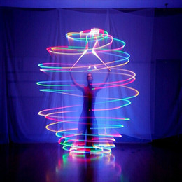 Wholesale Belly Poi - LED Hand Props Women Led POI Thrown Balls for Accessories Hand Belly Dance Props Aoto Color
