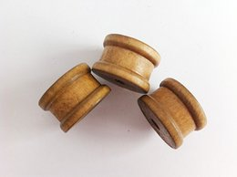 Wholesale Wholesale Ribbons Spools - Short High Quality Vintage Wooden Spools,collecting your strings,ribbons well,as a toy for kids is a good choice