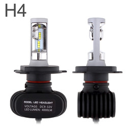 Wholesale Toyota Headlights - CSP Chips Led Headlight Car Bulbs H4 Fan-less High Dipped Beam 6500K Auto Head Lamp For Ford Toyota Honda S1 Series