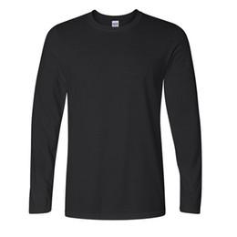Wholesale Best Long Shirt Brand - Best Seeling Classic Men T shirt Long Sleeve O neck Mens T-shirt Cotton Tees Tops Mens Brand tshirt Plus size XS-XXL Sweatshirts