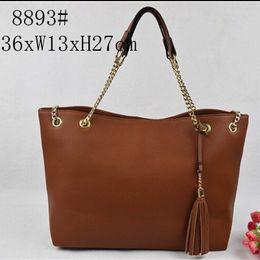 Wholesale Tassels Cell Phone - tassel women bags MICHAEL KALLY famous brand luxury lady PU leather handbags famous Designer saddle bags purse shoulder tote Bag 8893