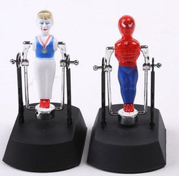 Wholesale Electric Baby Dolls - 2017 gymnastics prince Spiderman toy Swing toys Parallel bars athletes Flip the clown Baby electric dolls new flash intelligent electric toy