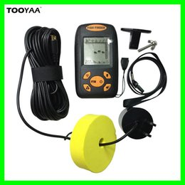 Wholesale Electronic Sonar Fish Finder - 100M Portable Fish Finders Alarm Electronic Alarm Sonar Sensor Sounder Fishfinder Sonar LCD Fishing Lure Bait Echo Sounder Carp